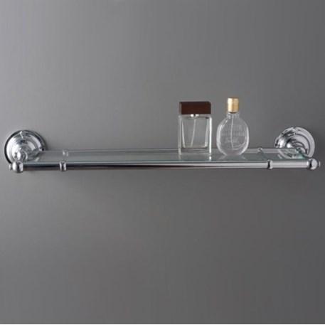Badkamer Plank Chroom met glas