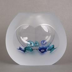Glazen Kom/Object Blue Ocean