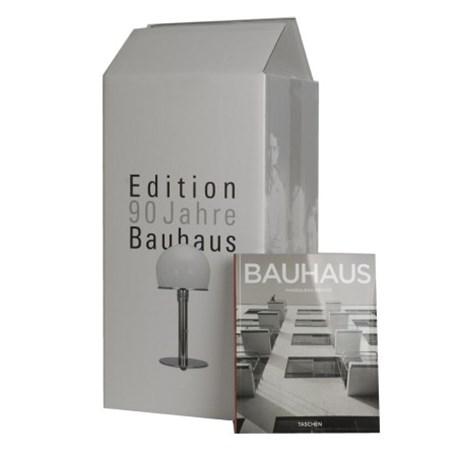 Special Edition Bauhaus Tafel lamp/Bureau lamp met glazen voet en glazen poot