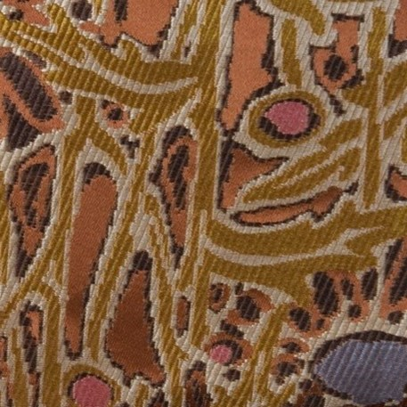 Meubel/Gordijn Stof Lalique in Bruin