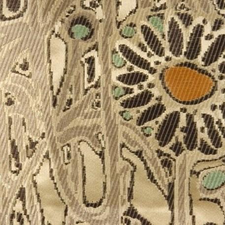 Meubel/Gordijn Stof Lalique in Gebroken Wit