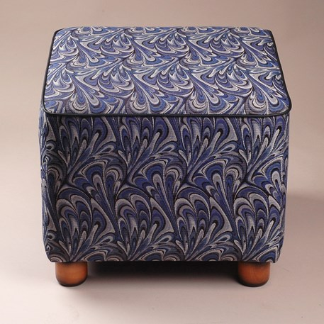 Art Deco Hocker met Charmaine stof