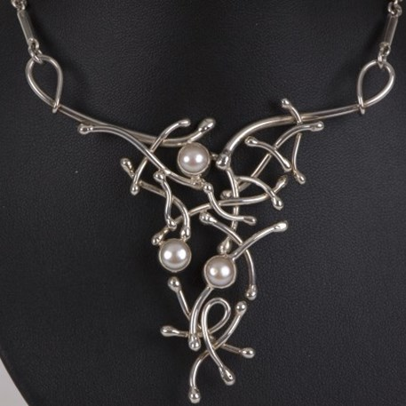 Detail Sterling zilveren Collier Parel Extase