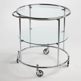 Tea-trolley met 2 Glasplaten op wielen