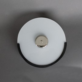 Trappenhuislamp Circle Zwart