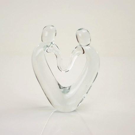 Glassculptuur Verbondenheid Transparant, glazen beeld