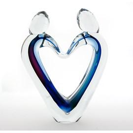Glassculptuur Verbondenheid Gekleurd