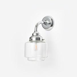 Wandlamp Smalle Getrapte Cilinder helder Curve Chroom