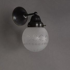 Wandlamp Geslepen Bol
