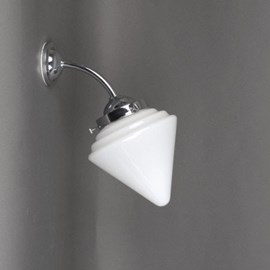 Buiten/ Grote Badkamer Wandlamp Puntkegelkap