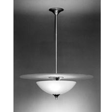 Hanglamp Half Volle Maan met Glasschaal Opaal
