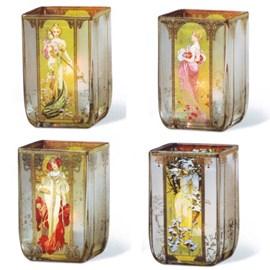 Windlichten The Four Seasons Mucha