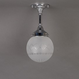 Badkamer Plafondlamp/Hanglamp Geslepen Bol