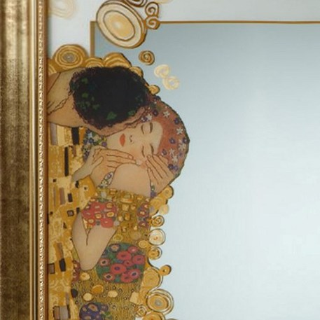 Detail Spiegel Klimt 'De Kus'