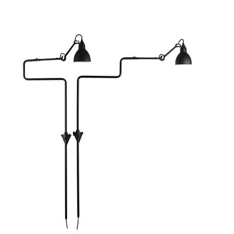 Mogelijke standen van La Lampe Gras Souples, hier matzwart gelakt