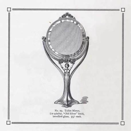 Originele Ontwerptekening Lady Mirror