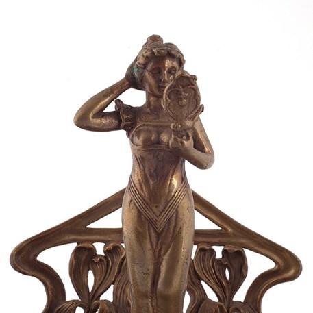Detail van Art Nouveau inkt standaard Valery