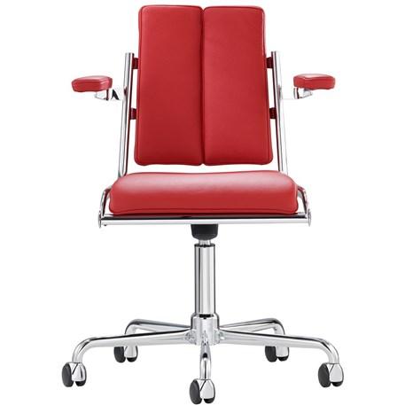 Bureaustoel, draaibaar met armleuningen.