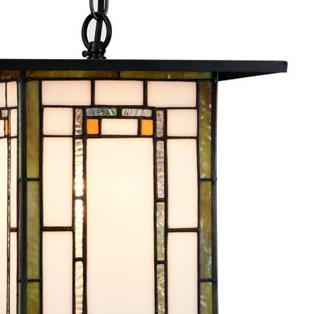 Tiffany Hanglamp Frank Lloyd Wright Oranje Detail