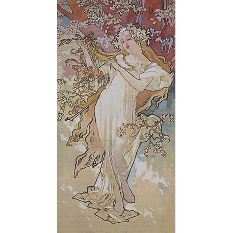 Wandkleed De Vier Jaargetijden Lente