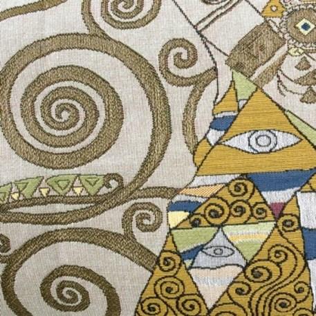 Detail Wandkleed/Gobelin Klimt De Verwachting Licht