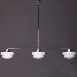 Hanglamp 3-Lichts met Glaskappen Halve Getrapte Bol