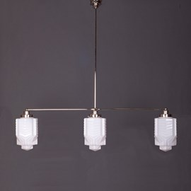 Hanglamp 3-Lichts met Glaskappen Chrysler