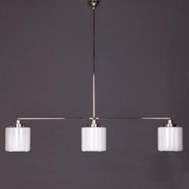 Hanglamp 3-Lichts met Glaskappen Vintage High
