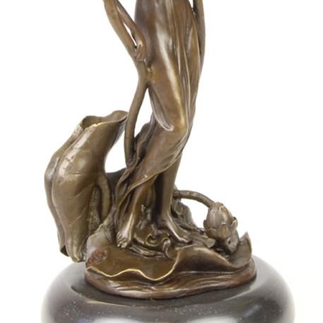Bronzen Kandelaar / Sculptuur Lily