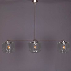 Hanglamp 3-Lichts met Getrapte Cilinder small Transparant