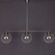 Hanglamp 3-Lichts met Bol Bubbel Helder