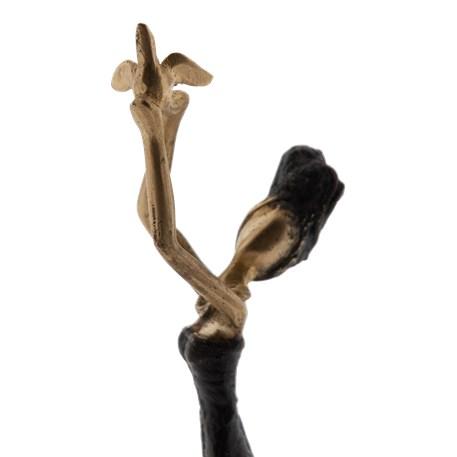 Bronzen Sculptuur Vrouw met Vogel