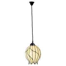 Tiffany Hanglamp Nature Open aan Katoensnoer